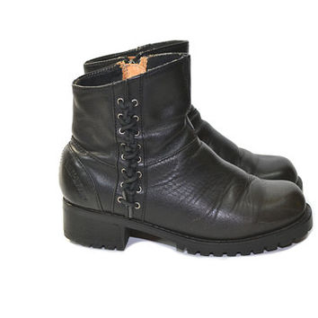 Vintage Harley Davidson Boots Motorcycle Boots Women's Harley Davidson Boots Black Motorcycle Boots