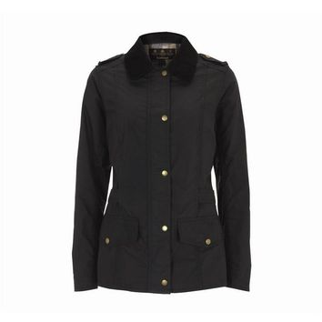 Barbour Winter fashion trend plus velvet down jacket/BLACK