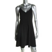 Trina Turk Womens V-Neck Cut-Out Clubwear Dress