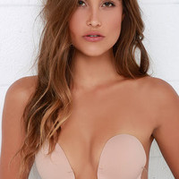 U Plunge Nude Backless Strapless Bra
