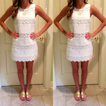 Summer Bandage Mini Dress - White