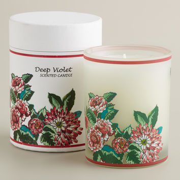 Boxed Violet and Vanilla Floral Tumbler Candle - World Market