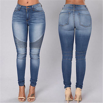 Denim Skinny High Waist Stretch Jeans