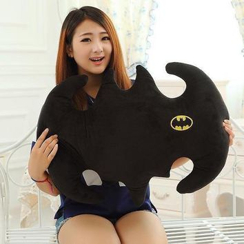 Batman Dark Knight gift Christmas Candice guo! Super funny plush toy pillow black batman logo cushion creative birthday gift 1pc AT_71_6