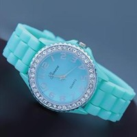 Mint Color Silicone Watch NKN004 from topsales
