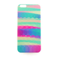 iPhone 6 Plus Case Cute Watercolor Rainbow iPhone 6 Plus Hard Case Circle Pattern Back Cover For iPhone 6 Slim Design Case Color Palette