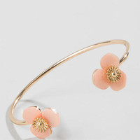 Lucille Flower Cuff In Pink