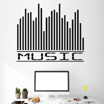 Wall Sticker Vinyl Decal Music Akvalayzer Music Track Decor For Music Salon Unique Gift M649