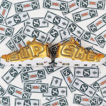 """Gold """"Suptempo"""" Air by Supreme x Nike"""