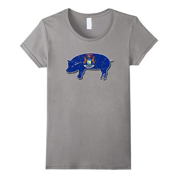 State of Michigan Barbecue Shirt - Pig Hog BBQ Competition