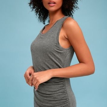 Dala Dark Heather Grey Bodycon Dress