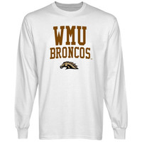 Western Michigan Broncos Team Arch Long Sleeve T-Shirt - White