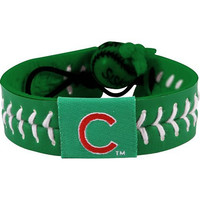 MLB Chicago Cubs St. Patrick's Day Baseball Bracelet