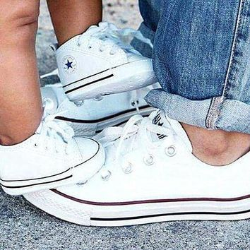 """Women With Men White """"Converse"""" Fashion Canvas Flats Sneakers Sport Shoes"""