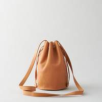 DRAWSTRING PURSE LEATHER