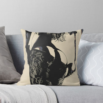 'That Ass - sexy girl conte' Throw Pillow by piciareiss