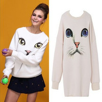 Cats printing sweater AA827IA