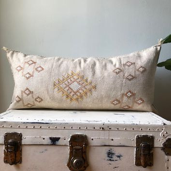 KING SIZE WASHED TAUPE CACTUS SILK PILLOW COVER