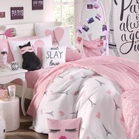 Twin Eiffel Hearts 5-Piece Comforter Set | Bedding | rue21