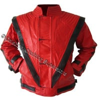 Michael Jackson Red Thriller Jacket (Tailor Made in 3 - 5 days!)