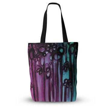 "Ebi Emporium ""Winter Garden - Ombre"" Purple Teal Everything Tote Bag"