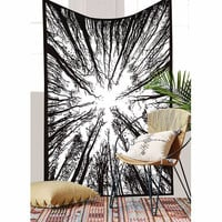 fashion wall window door tapiz pared  2017 hot sale polyester printed tree tapestry