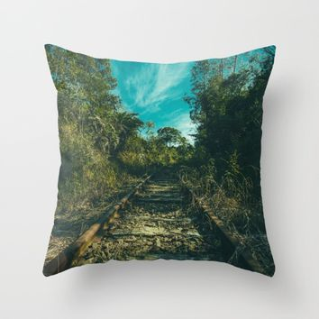 Abandoned Throw Pillow by Mixed Imagery