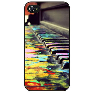 Phone Case Colored Piano Keys Color-Splashed Piano Keyboard for iPhones and Samsung Galaxy phones