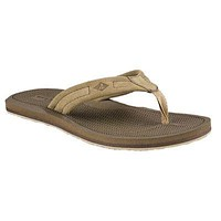 Men's Sharktooth Thong Sandal in Chino by Sperry