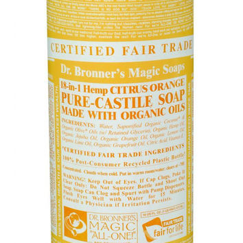 Dr. Bronner's Pure Castile Soap - Fair Trade And Organic - Liquid - 18 In 1 Hemp - Citrus Orange - 16 Oz  10% Off Auto renew