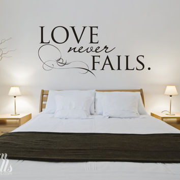 Vinyl Wall Sticker Decal Art - Love Never Fails