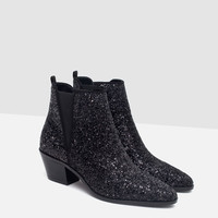 SPARKLY ANKLE BOOTS