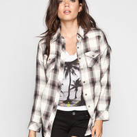 Angie Womens Flannel Shirt Grey/Multi  In Sizes