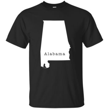 Alabama State Outline T Shirt 1 - Great Gift for AL Pride Tee or T-Shirt