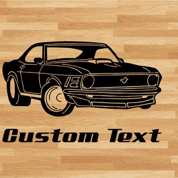 Ford Chevy Car Wall Decal - Auto Wall Mural - Vinyl Stickers - Boys Room Decor