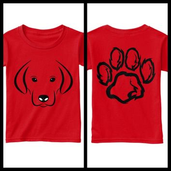 Boys Puppy Paw T- Shirt - Made in USA - Free Shipping