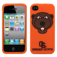 Oregon State Beavers Mascot Silicone iPhone 4/4S Cover- - http://www.shareasale.com/m-pr.cfm?merchantID=7124&userID=1042934&productID=555883888 / Oregon State Beavers