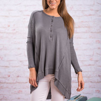Soft Inclinations Top, Gray