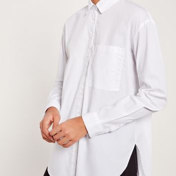 Missguided - Cotton Poplin Shirt White