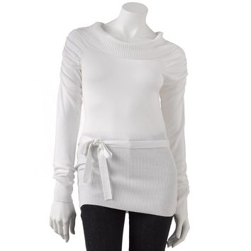 Derek Heart Marilyn Sweater - Juniors, Size: MEDIUM (White)