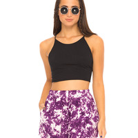 Maisy High Waisted Short in Indigo Child Purple by Motel