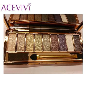 ACEVIVI Women 9 Colors Diamond Bright Makeup Eyeshadow Waterproof Eyeshadow Makeup Set Glitter Eyeshadow Naked Smoky Palette
