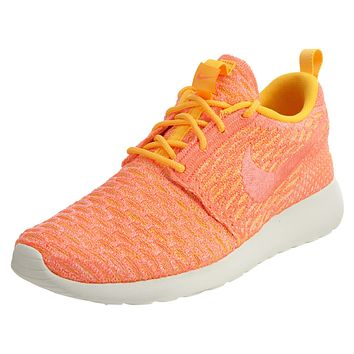 Nike Roshe One Flyknit Low-Top Orange Trainers Womens Style :704927