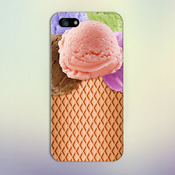 Summer Ice Cream x Sugar Cone Design Case for iPhone 6 6 Plus iPhone 5 5s 5c iPhone 4 4s Samsung Galaxy s6 s5 s4 & s3 and Note 4 3 2