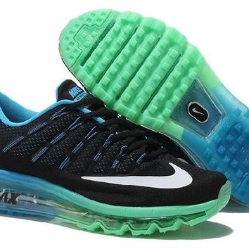 Ready Stock Nike Air Max 2016 On Sale Black Jade Green Running Shoes Sport Running Shoes
