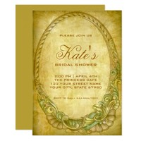 Bridal Shower Invitation | Vintage Golden Frame