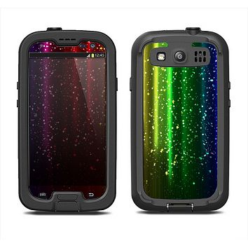 The Neon Glowing Rain Samsung Galaxy S3 LifeProof Fre Case Skin Set