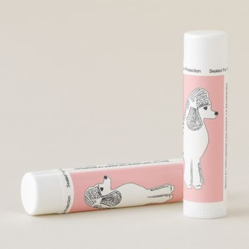 White Poodle Blush Pink Lip Balm Pack of 12