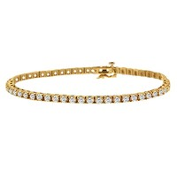 4 1/3ct tw Diamond Tennis Bracelet in 14K Yellow Gold - Diamond Bracelets - Jewelry & Gifts