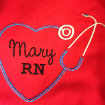 Personalized/Monogrammed Nurses t-shirt